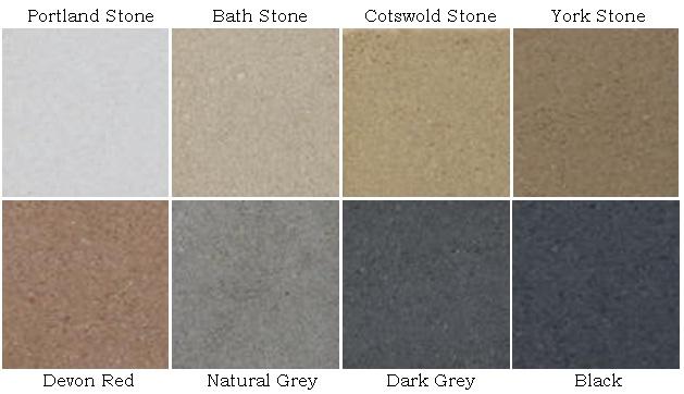 Stone Colour chart