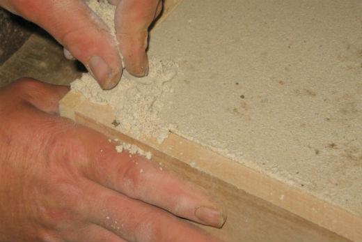 Repairing cast stone