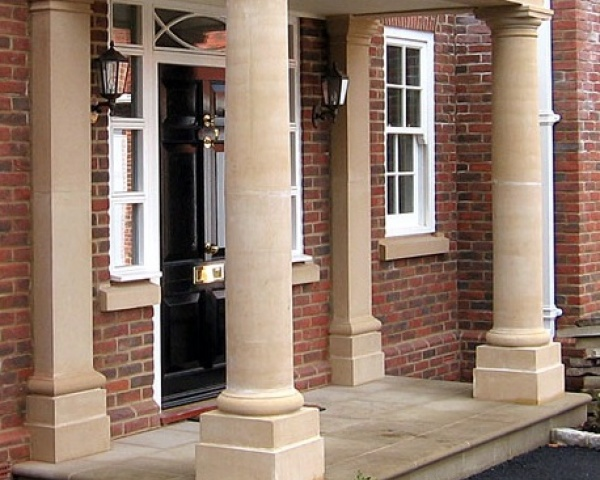 Columns with square pilasters