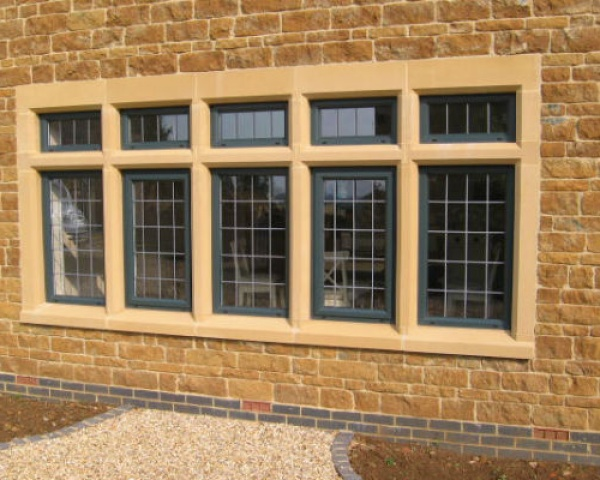 Mullion Window with Transoms